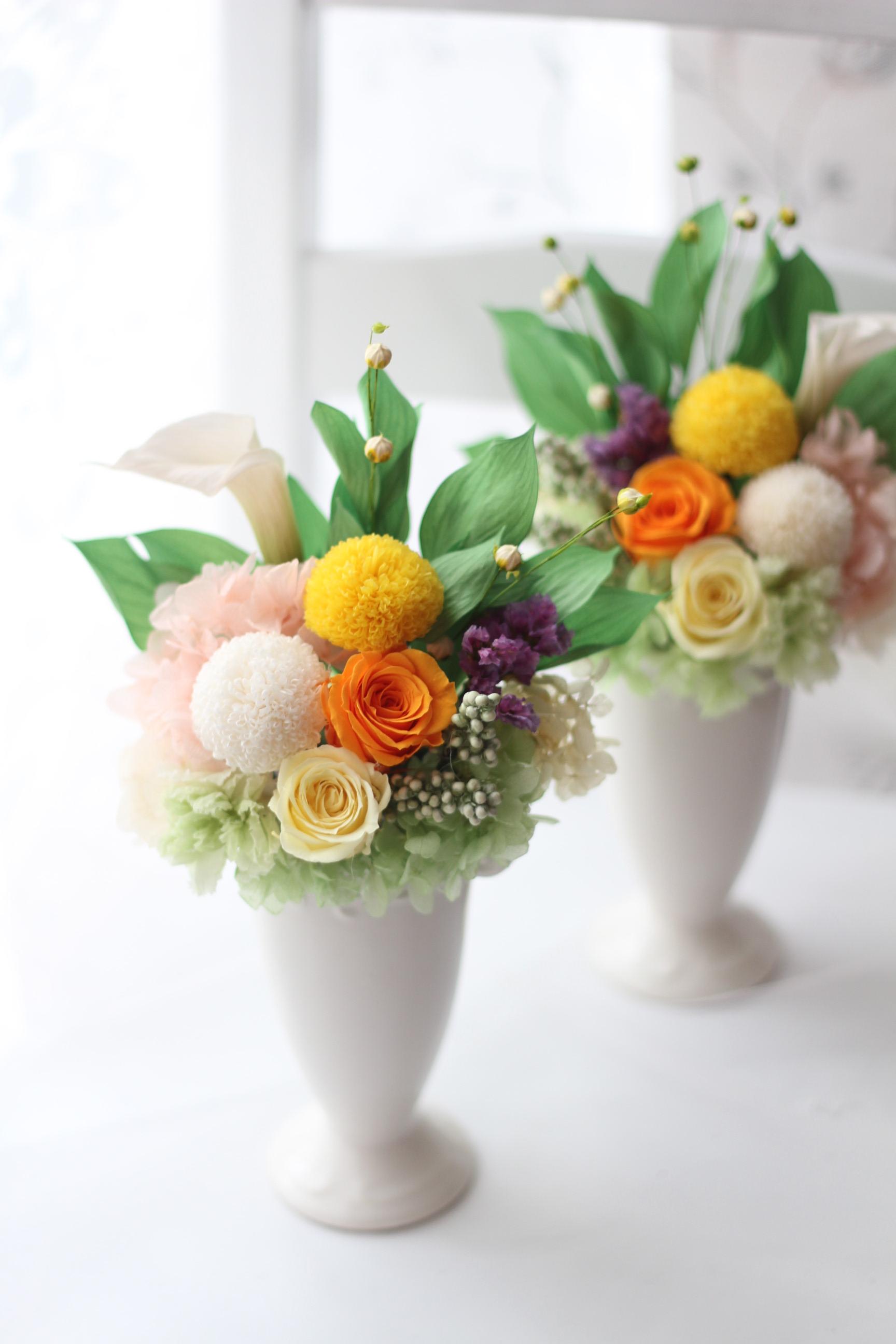 【フリー】仏花アレンジ