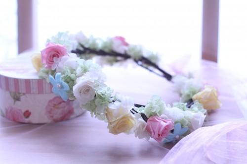 パステル系 花 冠 ♡