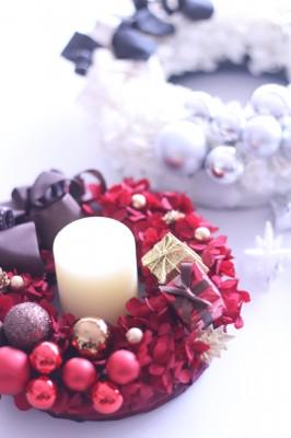 赤のクリスマスリース♡