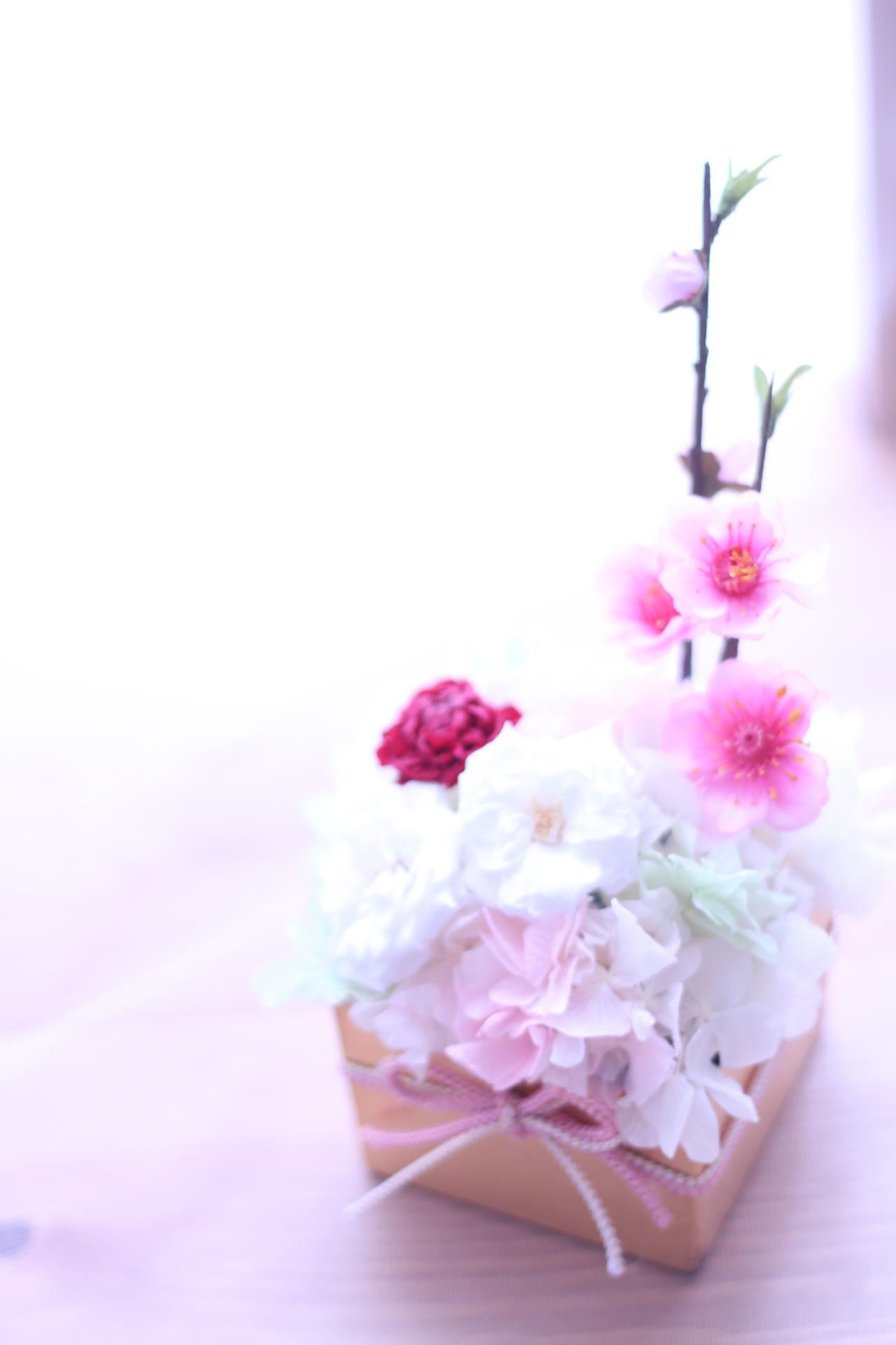【新作】桃の節句 ひな祭りアレンジ♪