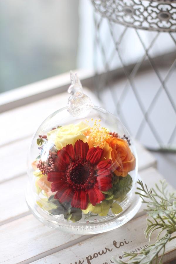 【生徒様作品】ガラスドームアレンジ