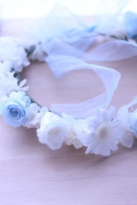 【ブライダル】ガーベラ&ローズの花冠♡