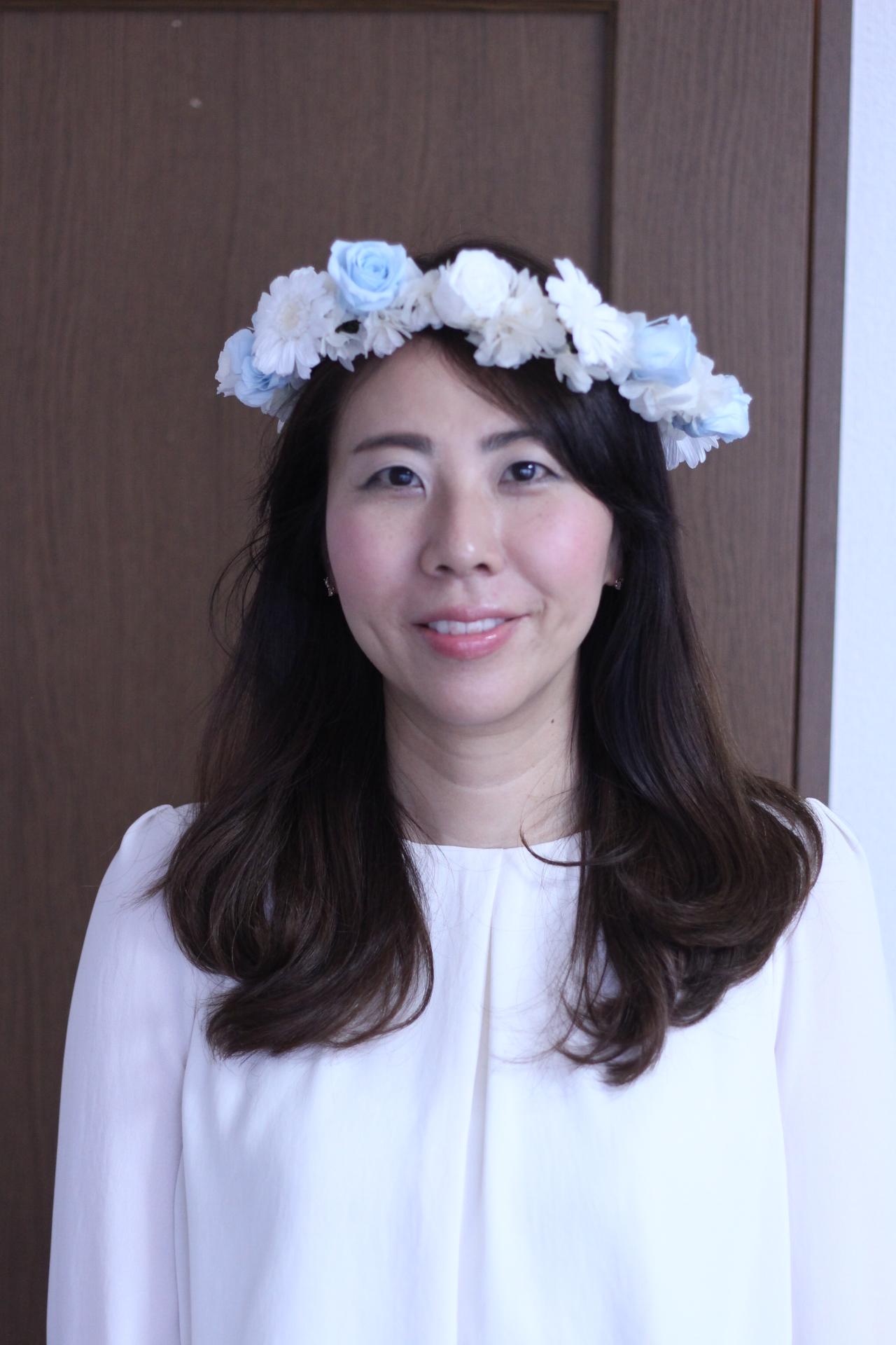 【ブライダル】ラウンドブーケとお揃いの手作り花冠♡