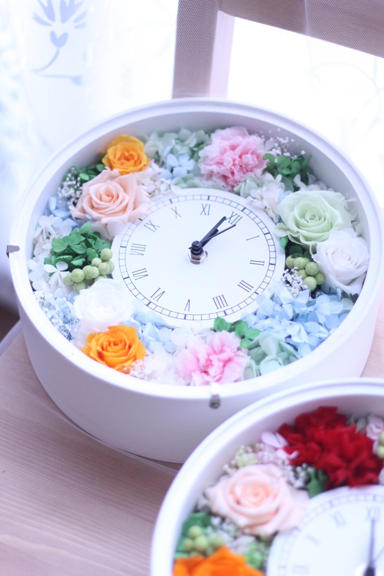 【ブライダル】ご両親贈呈ギフト 花時計♡