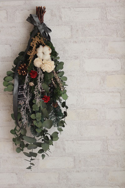 【季節のアレンジ】クリスマス スワッグ