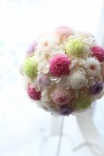 和花のラウンドブーケ♡