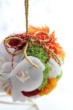 胡蝶蘭の和装ボールブーケ♡